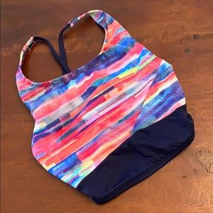 Girls sports bra and running short set